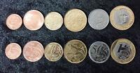 BRAZIL SET 6 COINS 1 5 10 25 50 CENTAVOS 1 REAL 2004 - 2017 UNC