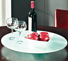 "New Large 22"" Lazy Susan Glass Turntable for Dining Table Rotating Serving Tray"