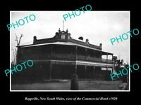 OLD LARGE HISTORIC PHOTO OF RAPPVILLE NSW, VIEW OF THE COMMERCIAL HOTEL c1920