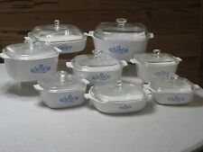 Vintage Corning Ware Blue Cornflower 16 Pc. Set