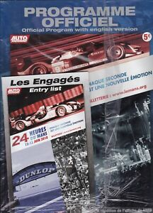 Le Mans 2010 Unopened Official Programme and entry list with x3 Le Mans books