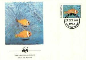 (70263) FDC Maldives Sea Fish 1986
