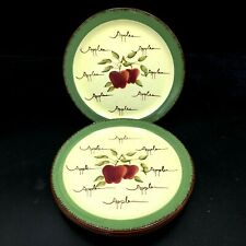 """New listing Home Interiors Apple Orchard Collection 7 7/8"""" Salad/Dessert Plates Set of 4"""