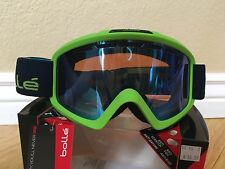 NEW BOLLE AURORA anti-scratch, anti-fog MATTE GREEN & BLUE GOGGLES,
