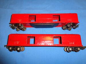 2 American Flyer Prewar #494 Red Baggage Cars