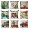Christmas Santa Claus Throw Pillow Case Cotton Linen Cushion Cover Home Decor