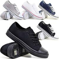 Mens Lace Up Casual Canvas Espadrilles Plimsolls Gym Trainers Pumps Shoes Size