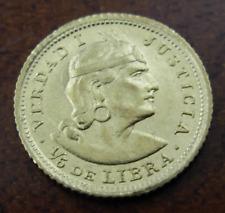 Peru 1926 Gold 1/5 Libra (Pound) UNC