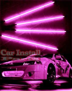 "4pc PINK Car Underbody Neon Kits Glow up Street Lite Neons : 2/36"" x 2/48"""