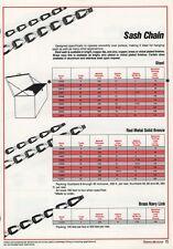TURNER & SEYMOUR #C0009-05-14 SASH CHAIN #8, PLAIN STEEL FINISH, 25 FEET
