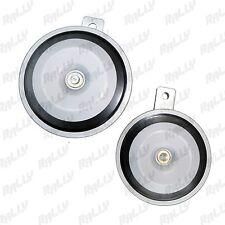605 BRAND NEW LOUD DISC HORN SPEAKER PAIR 12V SILVER JN-503
