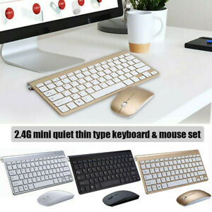 Wireless Keyboard & Mouse Combo Set 2.4G Optical Slim Cordless USB For PC Laptop