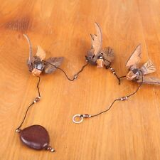 4 Wooden Birds Mobile Hanging Decoration Thailand