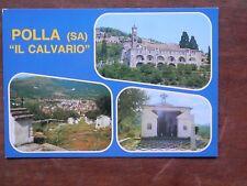 Vecchia foto cartolina d epoca di Polla il Calvario chiesa cimitero da di per