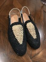 ROBERT CLERGERIE Women's Raffia Silver Leather Flat  Shoe Size 36 New W/o Tags