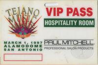 TEJANO MUSIC AWARDS 1997 LAMINATED BACKSTAGE PASS