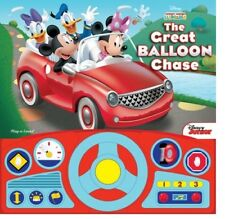 DISNEY MICKEY MOUSE CLUBHOUSE THE GREAT BALLOON RACE STEERING WHEEL BOOK