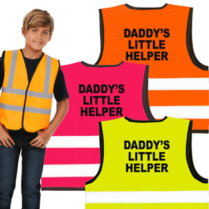 Daddy's Little Helper / plain Hi vis vest for Kids -Perfect Present for Children