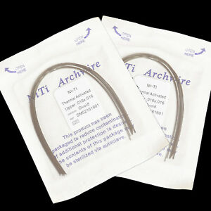 50Packs Orthodontic Dental Heat Thermal Activated Niti Rectangular Arch Wires CE