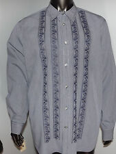 Express Men's embroidery shirt-  XL- Excellent Condition
