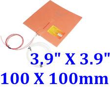"""3.9"""" X 3.9"""" 100 X 100mm 12V 50W w/ 3M Thermistor 3D Printer Heat Bed JSR Heater"""