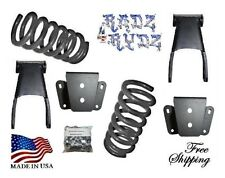 """1980-1996 Ford F100 F150 2WD 3""""-4"""" Lowering Kit Springs Shackles Hangers"""