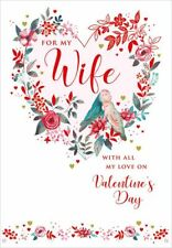 Valentines Day Card Wife Birds In Heart