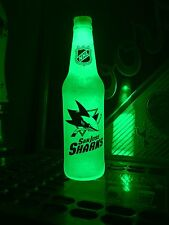 NHL San Jose Sharks Hockey 12 oz Beer Bottle Light LED Bar Man Cave