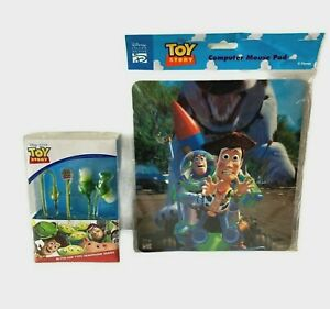 Disney Toy Story Computer Mouse Pad & In - The - Ear Types Headphones