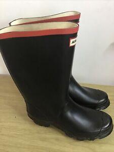 Mens Argyll Hunter Black Wide Calf Wellington Boots Black Size UK 7