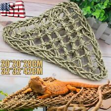 New listing Reptile Hammock Lizard Lounger Bearded Dragon Tank Accessories Hanging Net Us