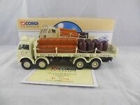 Corgi Classics 97942 ERF Flatbed With Chains & Barrels Flowers 1:50 Scale