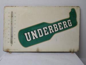 Altes Emaille Schild von Underberg mit Thermometer Werbung Reklame