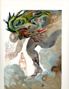 SALVADOR DALI THE DIVINE COMEDY INFERNO 31 ORIGINAL LTD. ED. WOODBLOCK PRINT