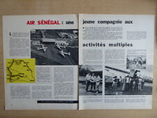 1964 ARTICLE 5 PAGE AIR SENEGAL AIRLINE AFRIQUE DC-3 AIRLINER PIPER PA-18