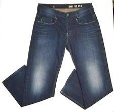 Men's G Star Raw Denim Jeans GS 01 Size 36 x 34 Button Fly