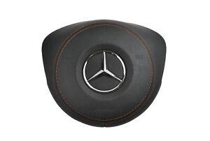 1x Neu Origi AirBag Lenkrad Schwarzes Leder mit Brauner Faden Mercedes W205 AMG