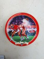 "Joe Montana King of Comebacks Super Bowl XXIII 1994 Bradford Exchange 8"" Plate"