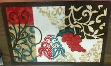 """TEXTILE KITCHEN RUG, (nonskid latex back) (20"""" x 30"""") GRAPES by BEKMEZ"""