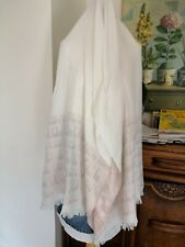 NEW Ted Baker TEDDII IVORY Metallic Script Long Scarf 180x70 cm
