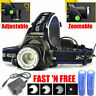 260000LM Rechargeable Head light LED Tactical Headlamp Zoomable 18650 Head Lamp