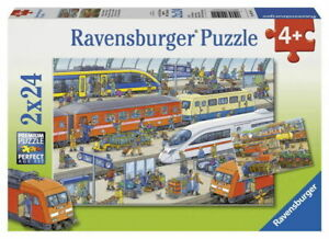 Ravensburger Puzzle 2x24pc - Busy Train Station RB09191-1