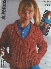 Vintage Patons Knitting Pattern No  8471 Jacket  in  Chunky Size  22 - 32 in