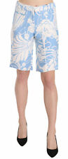 MIU MIU Shorts Blue White Floral Print Knee Length Casual IT42/ US8 / M RRP $400