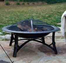 Fire Sense Roman Fire Pit Stylish Outdoor Patio Wood Burning with Screen protect