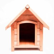 Outdoor Wooden Dog Kennel Waterproof Heat-resistant Hinge Roof - Small