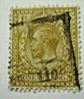 Angleterre-GB Stamp n°165 One Shilling King Georges V 1924 UK Timbre