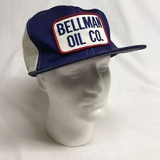 Vintage Bellman Oil Co Bremen In Patch Snapback Mesh Hat Cap K-Brand Usa