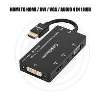 4 in 1 Digital HDMI to DVI HDMI Audio VGA Adapter Cable Converter For TV DV WY