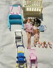 Barbie Mom, Babies, infants, And Furniture Lot